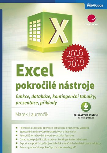 Excel 2016 a 2019 - pokročilé nástroje