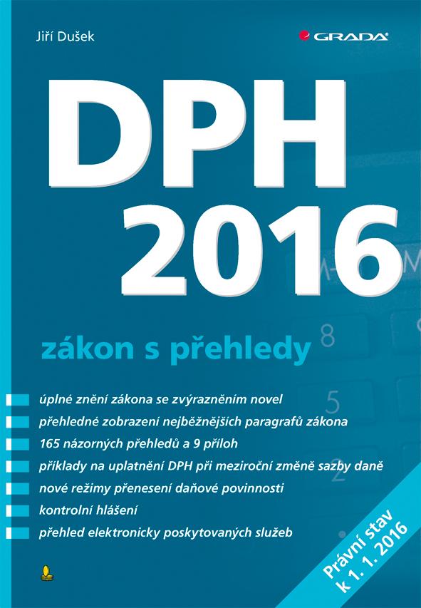 DPH 2016 - zákon s přehledy