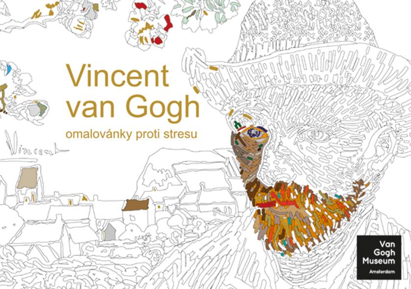 Vincent van Gogh, omalovánky proti stresu