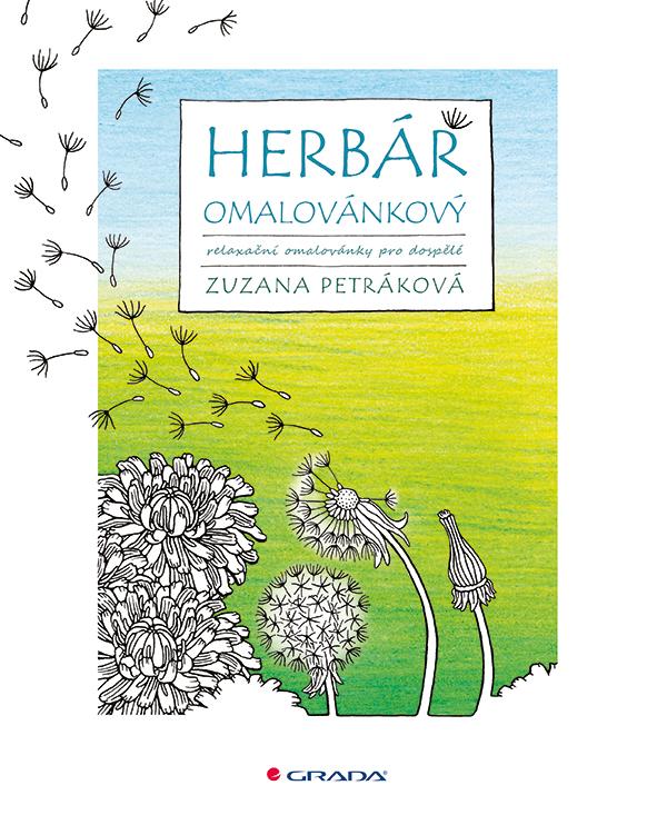 Herbář omalovánkový, relaxační omalovánky pro dospělé