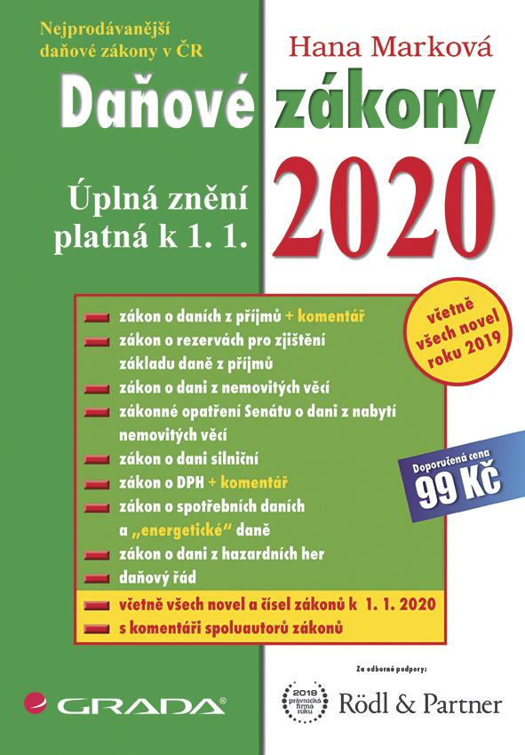 Daňové zákony 2020, úplná znění k 1. 1. 2020