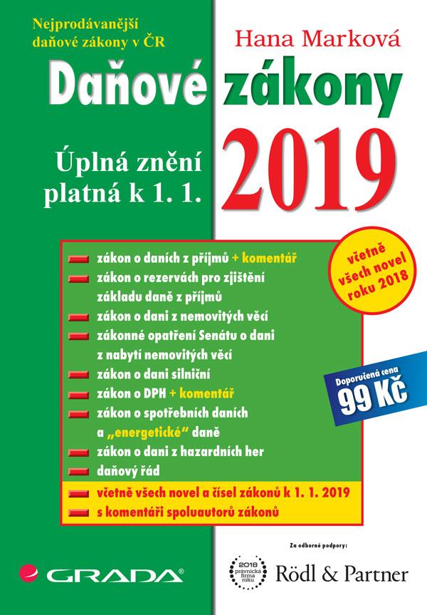 Daňové zákony 2019, úplná znění k 1. 1. 2019
