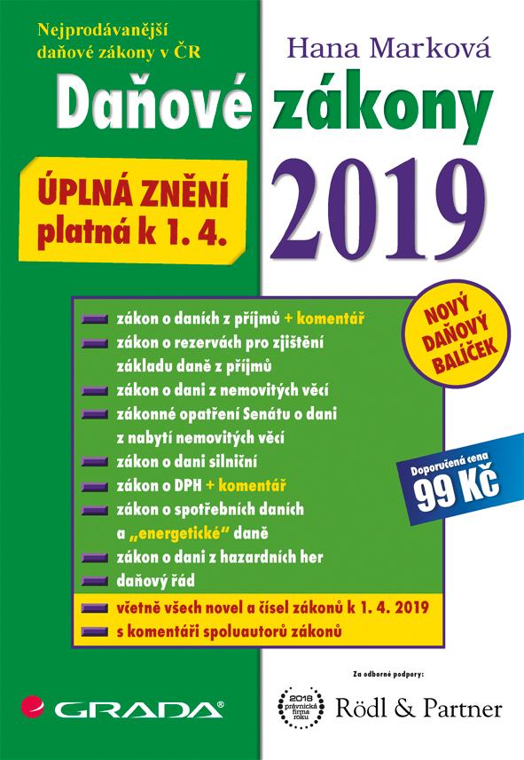 Daňové zákony 2019, úplná znění k 1. 4. 2019
