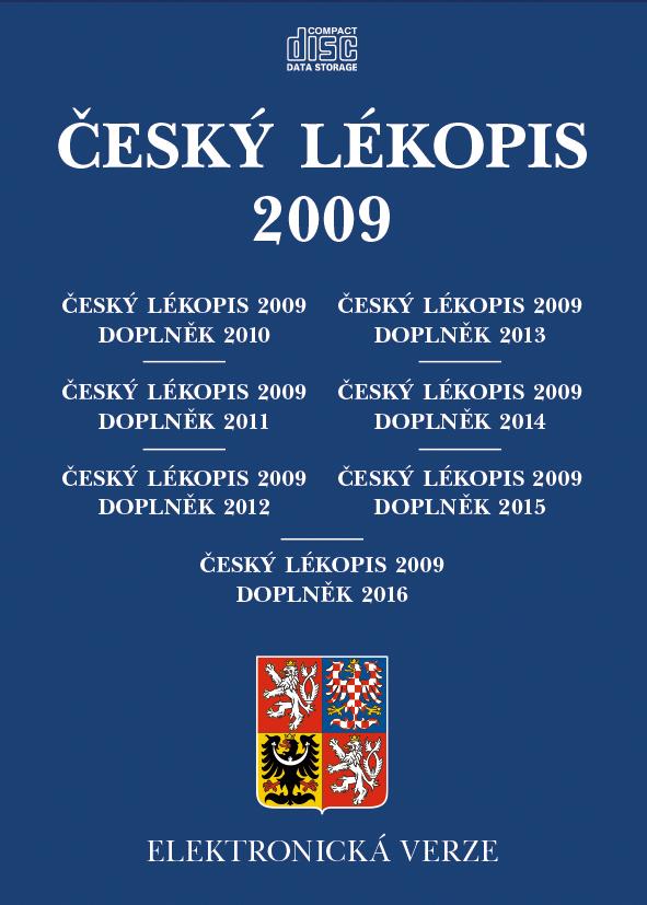 Český lékopis 2009, ČL 2009 - Doplněk 2010, ČL 2009 - Doplněk 2011, ČL 2009 - Doplněk 2012, ČL 2009 , Elektronická verze na CD