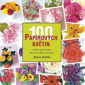 100 papírových květin