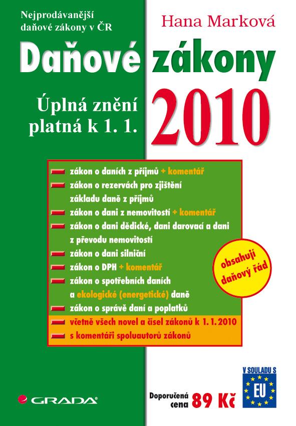Daňové zákony 2010
