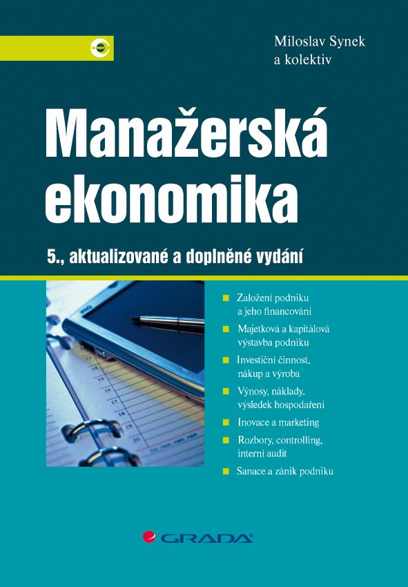 Manažerská ekonomika, 5., aktualizované a doplněné vydání