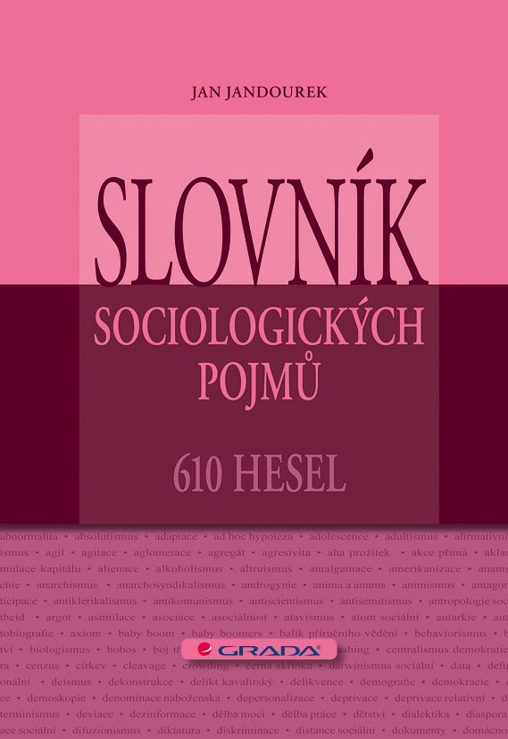 Slovník sociologických pojmů, 610 hesel